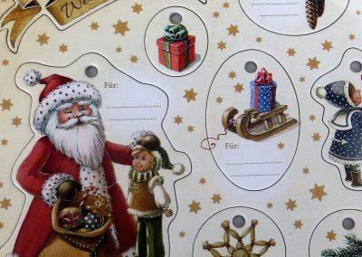 hochwertige stabile Geschenkanhänger, da kann Weihnachten kommen