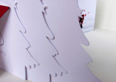 Weihnachtskarte mit der Besonderen Haptik - zwei unterschiedlichen Papiersorten vollflächig aufeinander kaschiert
